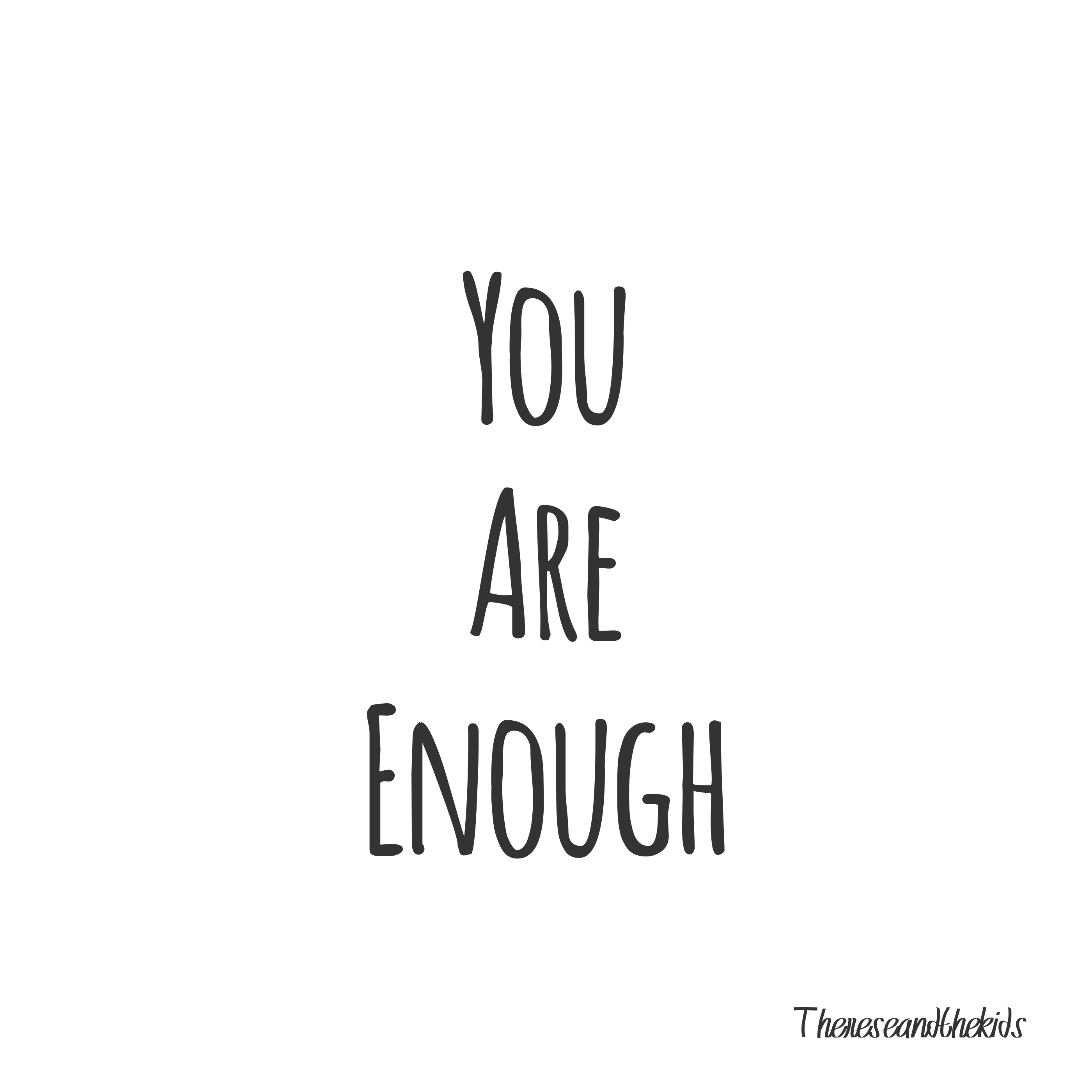 you are enough comparaison humeur blog suisse thereseandthekids